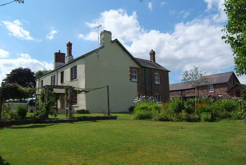 Greendown Farmhouse is in a stunning position on the edge of the farmstead, with unspoilt views across the countryside.