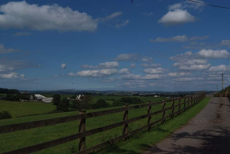 As you turn into the entrance to Greendown Farm you will get this stunning view to set the scene.