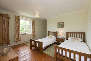 This is one of the twin bedrooms. All the single beds are 3ft and so are good for adults as well as for children.