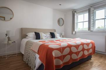 Both bedrooms are wonderfully relaxing and have en suite shower-rooms.