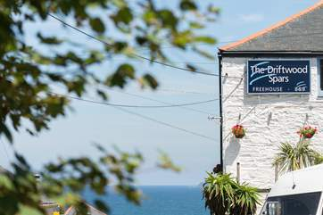 The Driftwood Spars at Trevaunance Cove, an authentic Cornish village pub with its own micro brewery.