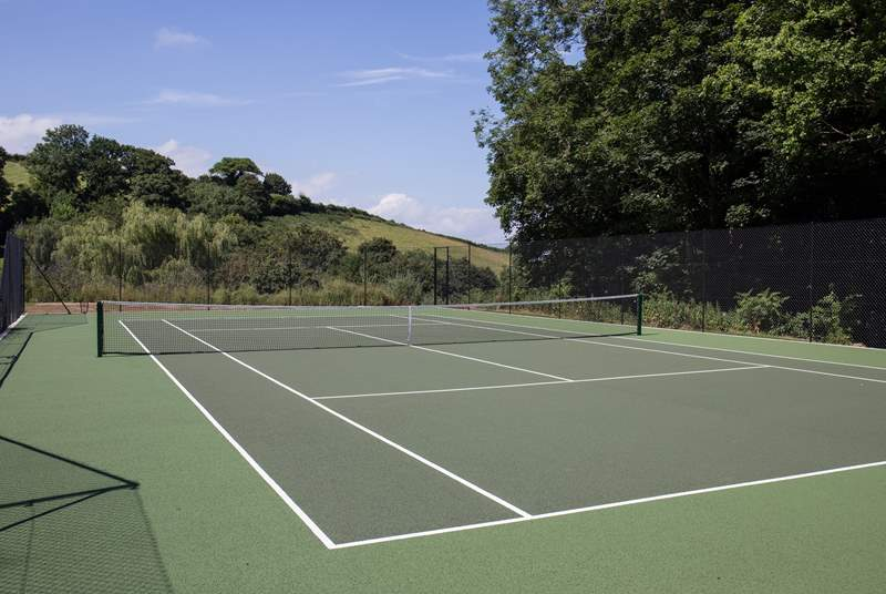 For the sporty members of the group, this shared tennis court is simply fabulous. Especially as equipment is supplied by the owner.