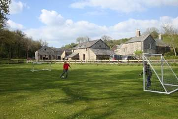 Football goals provide hours of entertainment for the more energetic members of the party.