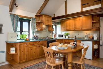 The cottage kitchen - pefect for those holiday morning fry ups!