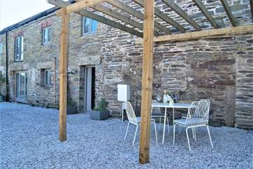 The pergola will be planted with climbing plants and much more established in just a few months!