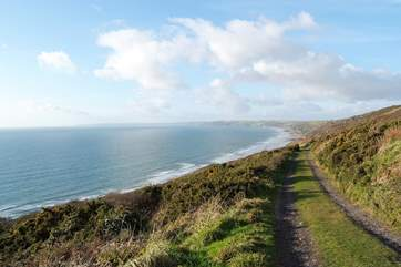 Fabulous coastal footpaths just a ten minute drive away.