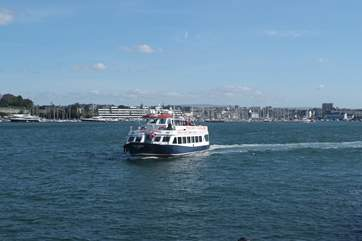 The Cremyll ferry pops over to The Barbican in Plymouth, a vibrant waterside area.