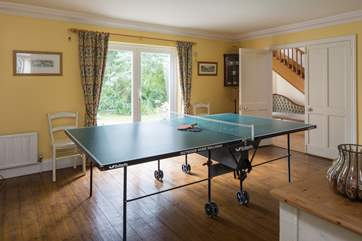 Table-tennis room provides the perfect entertainment on a rainy day.