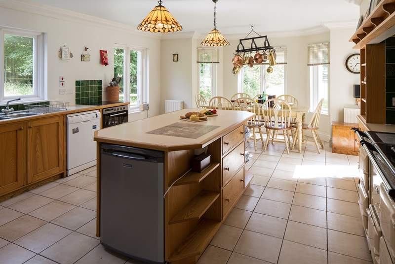 The kitchen. What a fabulous room. Equipped with a large dining-table, laying out breakfast is a real pleasure.