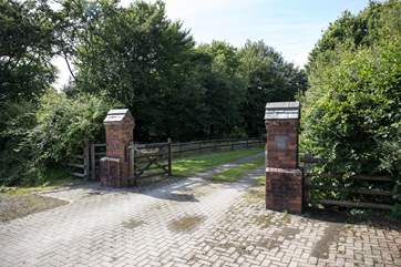 The main gates to Hope Farm.