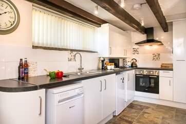 The modern, stylish kitchen.