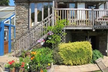 Steps to the front door.