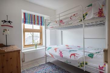 Bedroom 2, the bunk-room, ideal for children.