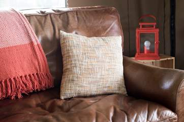 A squishy sofa to snuggle up on of an evening.
