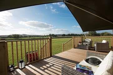 The wonderful views can be enjoyed from any direction on the deck.