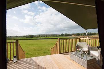 Enjoy a glass of wine (or two!) whilst the children run and play in the spacious meadow.