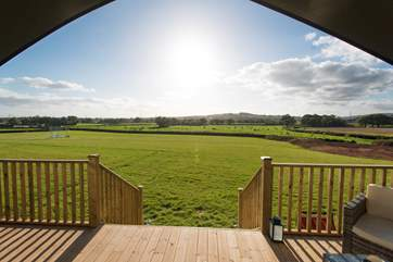 The wonderful countryside views can be enjoyed from inside and out.