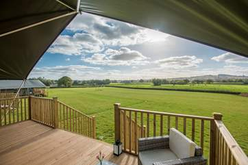 Take in the wonderful countryside views from the deck.