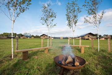 The fire-pit can be enjoyed by all - why not toast some marshmallows?