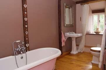 This is the family bathroom - lovely to have a bathroom with so much space.