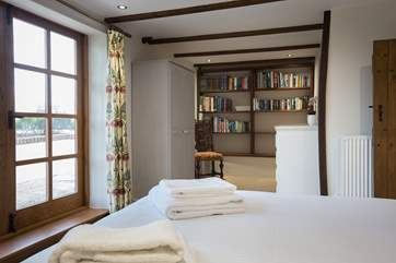 The ground floor bedroom has direct access to one of the wonderful terraces.