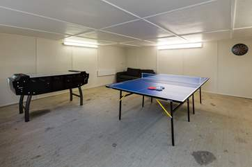 There is a games-room in one of the outbuildings which all ages will enjoy using.
