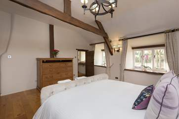 Another view of the bedroom, the door to the right leads to the en suite shower-room.