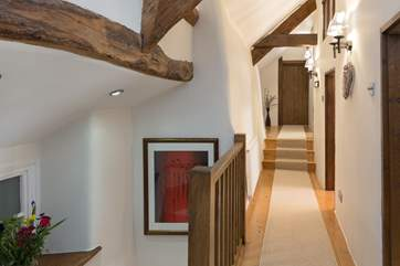 This is the corridor that links all the first floor bedrooms of this historic Devon Longhouse.
