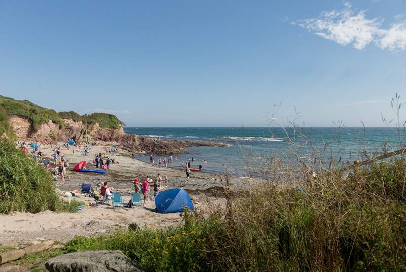 Talland beach is just a two minute walk down the hill.