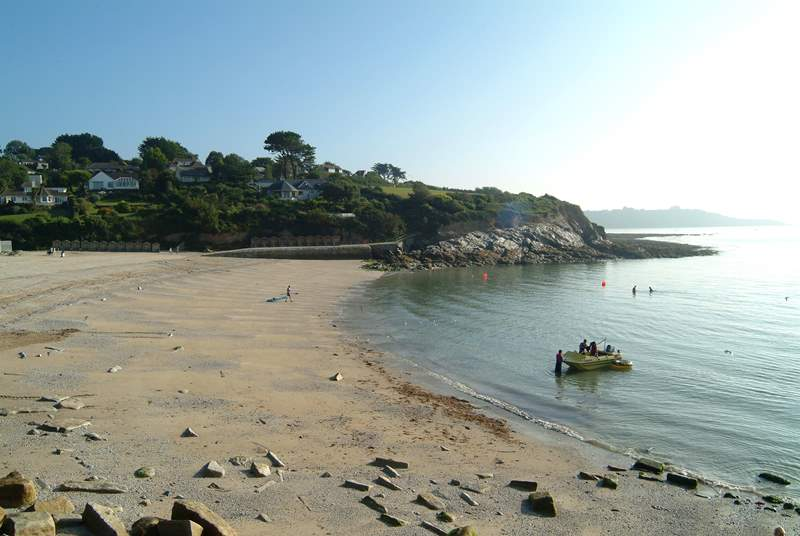 Swanpool beach is popular for watersports.