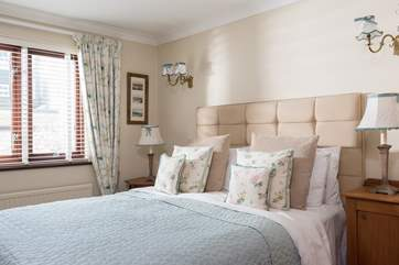 Bedroom 2  has a superbly comfortable double bed.