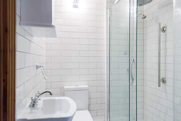 A large shower cubicle for enjoyable showering.