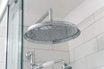 High water pressure and a drench-head shower...bliss!