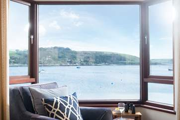 Superb views from the sitting-room (in summer there are hundreds of yachts moored on the water).