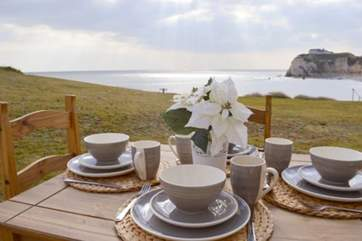 Enjoy your breakfast with that impressive view.