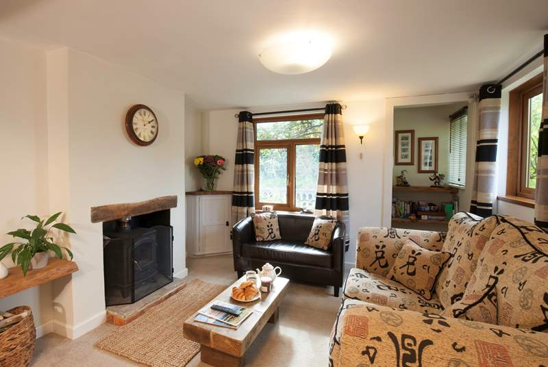 The sitting-room has a wood-burner to keep you nice and warm in the colder months