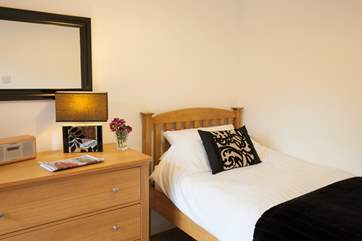 The single bedroom, suitable for children or adults alike (or to get away from snoring!)