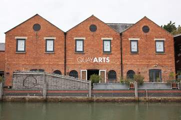 Quay Arts located on the River Medina is the island's leading art centre