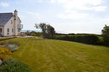 The large garden is lovely area for the children to run around and let off steam