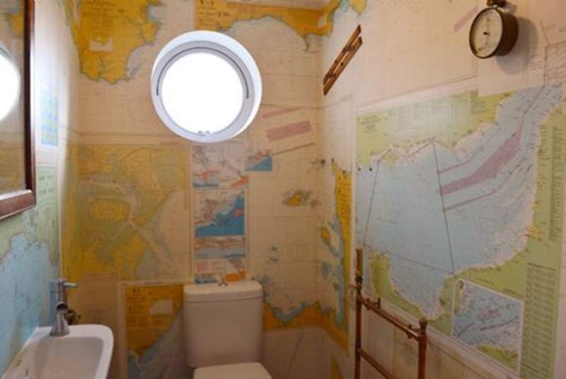 The downstairs WC with wash-basin