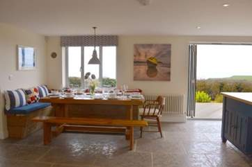 The natural light floods into the property