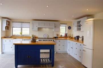 The large kitchen gives you plenty of space to cook and bake to your heart's content