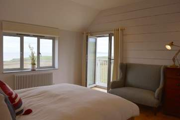 The master bedroom has its own private balcony, what a treat
