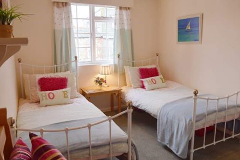 The lovely twin bedroom