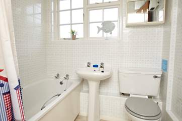 The family bathroom with fitted shower