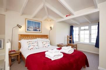 The spacious master bedroom for a very comfortable good nights sleep