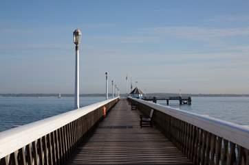 Take a walk down the historic pier