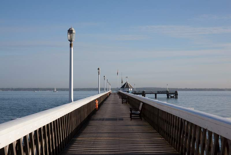 Take a walk down the historic pier