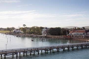 The pier is a great place for crabbing and fishing