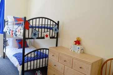 The bunk-beds are delightful and ideal for children.